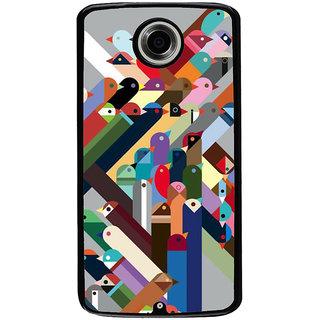 Ayaashii Birds Pattern Back Case Cover for Motorola Google Nexus 6