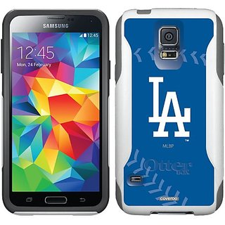 Coveroo Commuter Series Cell Phone Case for Samsung Galaxy S6 - Retail Packaging - LA Dodgers Stitch