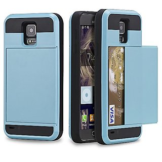 Galaxy S5 Case, NOVT Shockproof Hybrid Galaxy S5 Wallet Case Cover Heavy Duty Impact Resistant Protective Phone Case wit