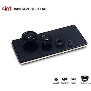 Lens Kit Accessory 180 Degree Universal Clips Fish Eye Lens + Two Wide Angles + Micro Lens Kit Mini Lens for iPhone 6s ,
