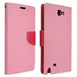 Mercury Fancy Diary Case for Samsung Galaxy Note 2 - Retail Packaging - Pink/Hot Pink