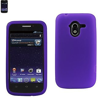 Reiko SLC10-ZTEN9120PP Sleek and Slim Silicone Designer Protective Case for ZTE Avid 4G - 1 Pack - Retail Packaging - Pu