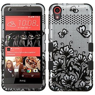 MyBat Cell Phone Case for HTC Desire 626/626s - Retail Packaging - Black/Silver