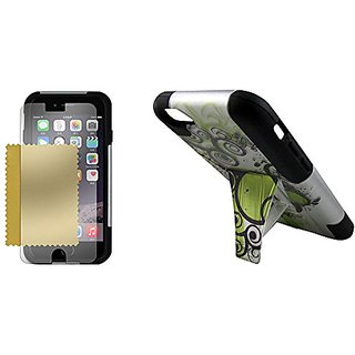 Maxtron iPhone 6 Rugged Hybrid Hard T-Stand Dual Armor Case Cover and Screen Protector - Non-Retail Packaging - Magic Be