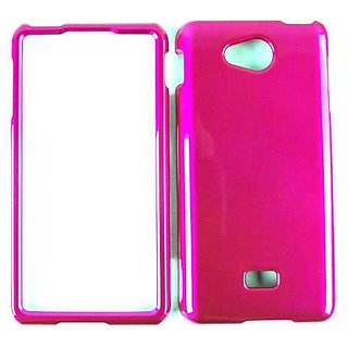 Cell Armor Snap-On Case for LG Spirit 4G - Retail Packaging - Honey Hot Pink