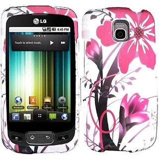 HR Wireless LG Thrive/Optimus T Design Cover Case - Retail Packaging - Pink Splash
