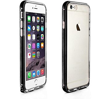 Alienwork Case for iPhone 6 Shock Proof Bumper Cover Ultra-thin Aluminium black AP619-01