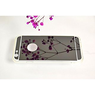 Cuple iPhone 6 iPhone 6S Mirror Case Soft TPU Silicone Jelly Mirror Case, Black