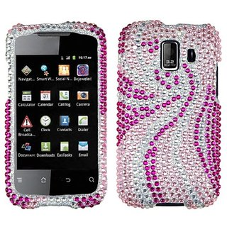 MyBat HWU8665HPCDM005NP Dazzling Diamond Bling Case for Huawei Fusion 2 - Retail Packaging - Phoenix Tail