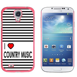 Graphics and More I Love Heart Country Music Snap-On Hard Protective Case for Samsung Galaxy S4 - Non-Retail Packaging