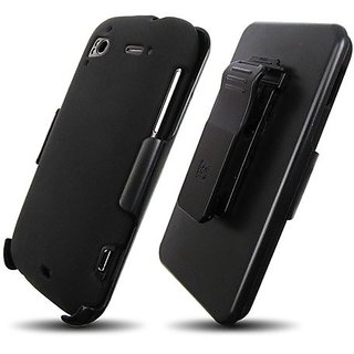 Beyond Cell 3-in-1 Combo Case and Holster for HTC Sensation 4G - Non-Retail Packaging - Black