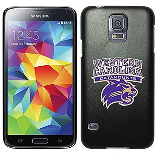 Coveroo Thinshield Case for Samsung Galaxy S5 - Retail Packaging - Black/Western Carolina Primary Mark Design