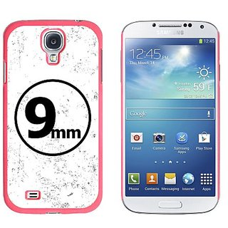 Graphics and More 9mm Bullet-Weapon Gun Snap-On Hard Protective Case for Samsung Galaxy S4 - Non-Retail Packaging - Pink