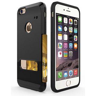 iPhone 6s Plus Case, Apoptech Heavy Duty Protective Slim Shell iPhone 6s Plus Wallet Case Card Slot Dual Layer Tough Bac