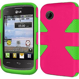 HR Wireless LG 306G - Dynamic Cover - Retail Packaging - Hot Pink/Neon Green