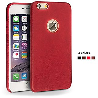 Qialino Back Cover Case for 4.7inch Iphone 6, Genuine Leather Stylish Super Slim Protection Phone Case (Red)