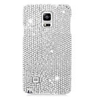 Eagle Cell Samsung Galaxy Note 4 Diamond Protective Cover - Retail Packaging - All Silver
