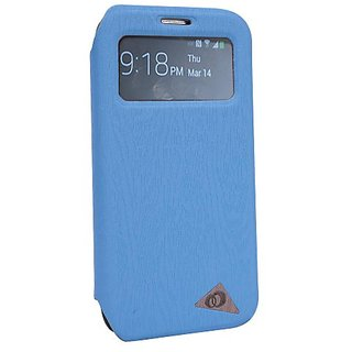 Kroo Samsung S IV Case with S-View - Baby Blue