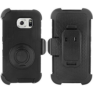 Zizo Carrying Case for Samsung Galaxy S6 Edge - Retail Packaging - Black/Black
