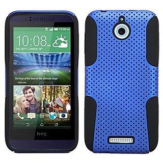 MyBat Asmyna HTC Desire 510 Astronoot Phone Protector Cover - Retail Packaging - Black/Blue