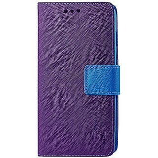 Reiko Premium Wallet Case with Stand, Flip Cover and 3 Card Holder for LG Tribute Ls660, LG F60 D390N - Retail Packaging