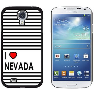 Graphics and More I Love Heart Nevada Snap-On Hard Protective Case for Samsung Galaxy S4 - Non-Retail Packaging - Black