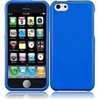 HR Wireless Rubberized Hard Cover Snap-On Case for iPhone 5C - Retail Packaging - Cool Blue