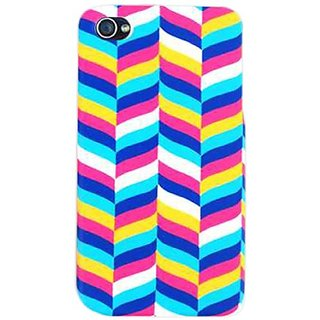 Cell Armor 4S/4-SNAP-TE600 Snap-On Case for iPhone 4/4S - Retail Packaging - White/Blue/Pink/Yellow Chevron
