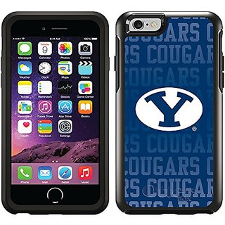 Coveroo Cell Phone Case for iPhone 6 - Retail Packaging - Black/Brigham Young Repeating Design