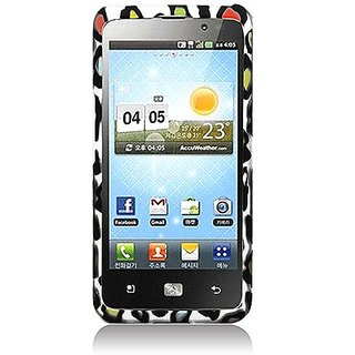 Eagle Cell PILGVS920R2D168 Stylish Hard Snap-On Protective Case for LG Spectrum VS920 - Retail Packaging - Rainbow Leopa