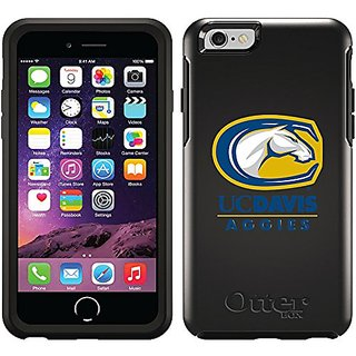 Coveroo Cell Phone Case for iPhone 6 - Retail Packaging - Black/Uc Davis Aggies Mascot Design
