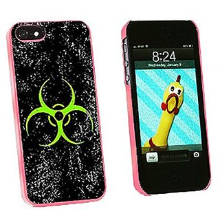 Graphics and More Biohazard Warning Symbol Green Zombies Distressed Snap-On Hard Protective Case for iPhone 5/5s - Non-R