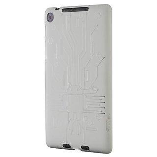 Nexus 7 FHD (2013) Case, Cruzerlite Bugdroid Circuit TPU Case Compatible for New Nexus 7 FHD (2013) - Clear