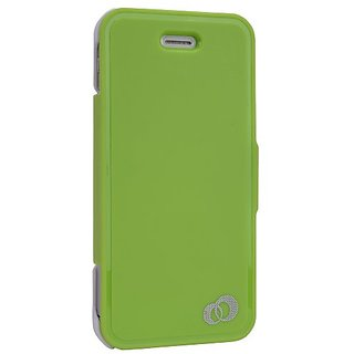 Kroo MIP5FSG1Flip Case for iPhone 5 - 1 Pack - Retail Packaging - Lime Green
