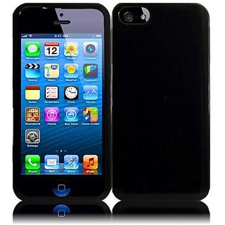 HR Wireless Rubberized Protective Carrying Case for iPhone 5/5S - Retail Packaging - Black
