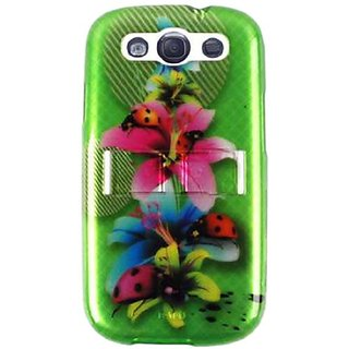 Cell Armor I747-PC-JELLY-03-WF2321-S Samsung Galaxy S III I747 Hybrid Fit-On Case - Retail Packaging - Flowers with Lady
