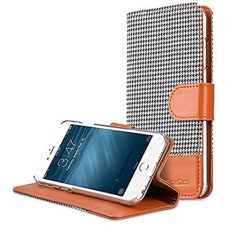 Apple iPhone 6S plus / 6 plus Melkco Holmes series Cover Type Premium Leather Hand Made Flip Case,Good Protection,Slim,P