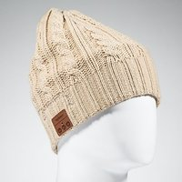 Tenergy Twisted Cable Knit Wireless Hands-Free Bluetooth Beanie Hat 52424 - Tan