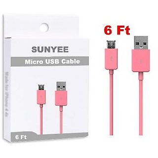 SUNYEE (TM) 3 Feet Micro USB Charging Data Cable for Samsung Galaxy S3/S4/Note 2 (SUNYEE Pink)