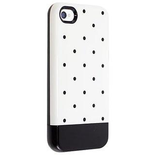 Uncommon LLC C0070-ED Print Dot Capsule Hard Case for iPhone 4/4S - Retail Packaging - Black/White