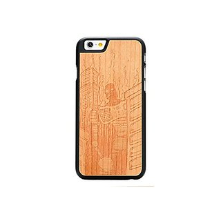 CARVED Robot Doom by Augiewan Engraved Cherry iPhone 6 Black Case