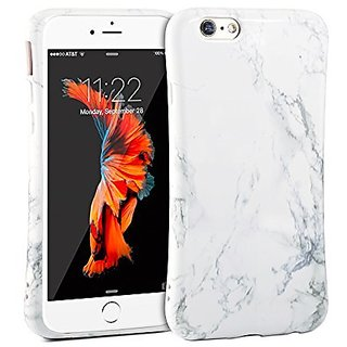 iPhone 6 Case, GMYLE Anti Shock Design TPU Flexible White Marble Pattern Protective Back Case for iPhone 6/6s (4.7 inch)