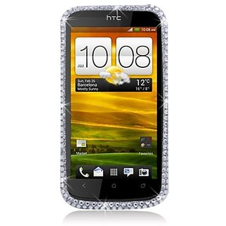 Eagle Cell PDHTCONESF377 RingBling Brilliant Diamond Case for HTC One S - Retail Packaging - Silver