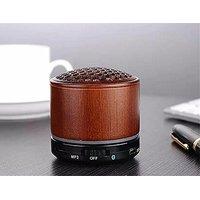 Deli Wood Wireless Mini Bluetooth Speaker - Portable 3D Stereo Music Sound Speaker With Super Bass Hifi Stereo Sub Boomb