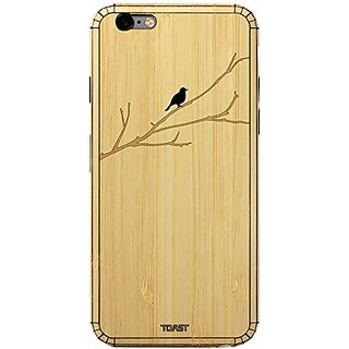 TOAST Real Wood Bird on Branch Cover for iPhone 6 Plus - Retail Packaging - Bamboo