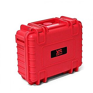 XSories Big Black Box 2.0 Shockproof Waterproof Storage Case With Customizable Foam Padding 4.3L Volume (Red)