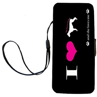 Rikki Knight I Love My Boxer Dog Flip Wallet iPhoneCase with Magnetic Flap for iPhone 5/5s - I Love My Boxer Dog