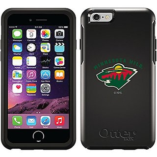 Coveroo Cell Phone Case for iPhone 6 - Retail Packaging - Black/Minnesota Wild Emblem Green Design