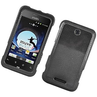 Eagle Cell PIZTEX500MG127 Stylish Hard Snap-On Protective Case for ZTE Score M/Score X500 - Retail Packaging - Carbon Fi