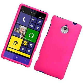 Eagle Cell Rubber Protective Case for HTC 8XT - Retail Packaging - Hot Pink